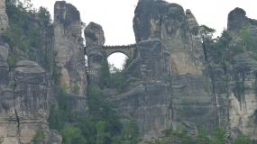 Sachsen, Elbufer, Blick auf die Bastei
