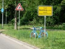 In der Nähe von Neuenburg wollte ich eigentlich die erste Etappe beenden, aber ...